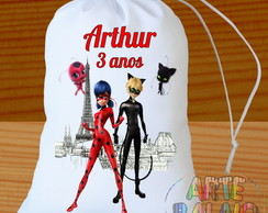 Paris Miraculous Ladybug Cat Noir Saquinho Surpresa