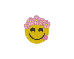 Patch Bordado Emoji Flores