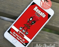DEADPOOL CONVITE WHATSAPP - DIGITAL