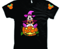Camiseta da Minnie para Halloween