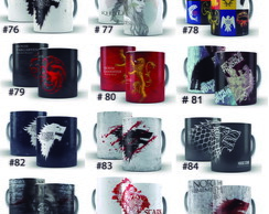 Kit 2 Caneca Game of Thrones Stark, Targaryen, Lannyster