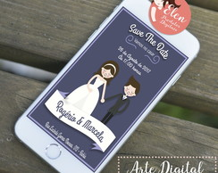 SAVE THE DATE - CONVITE DE CASAMENTO WHATSAPP (DIGITAL)