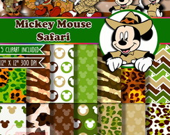 Kit Digital Scrapbook Mickey Mouse Safari