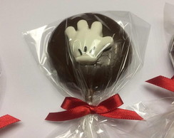 Pirulito Chocolate Decorado Mickey
