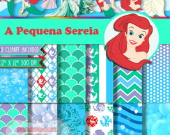 Kit Digital Scrapbook A Pequena Sereia 1