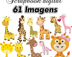 Scrapbook Digital Girafa Infantil - MENOR PREÇO DO SITE