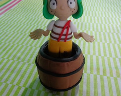 Chaves no barril! (biscuit/porcelana fria)