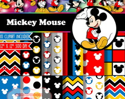 Kit Digital Scrapbook Mickey Mouse 1