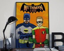 "pôster ""breaking bad - batman e robin"""