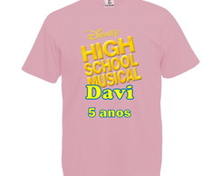Camiseta Rosa Bebê High School Musical
