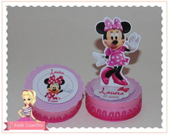 Latinha 5x2 com aplique 3d - Minnie Rosa