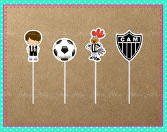 Toppers Doces Atlético Mineiro (Galo)