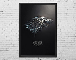 Quadro Grande com moldura Game of Thrones Stark