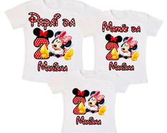 Kit 3 Camiseta Minnie Vermelha personalizada