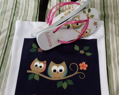 Bolsa Ecobag 35x35 +toalhinha + chinelo Dia do Professor