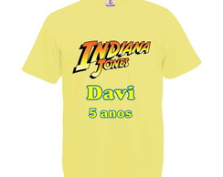 Camiseta Amarelo Claro Indiana Jones