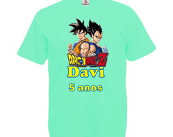 Camiseta Verde Claro Dragon Ball Z