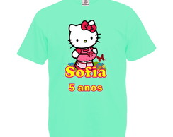 Camiseta Verde Claro Hello Kitty