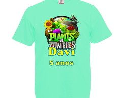 Camiseta Verde Claro Plants Vs Zombies