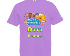 Camiseta Lilás Bubble Guppies