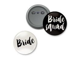 bottons Bride and Squad Bride
