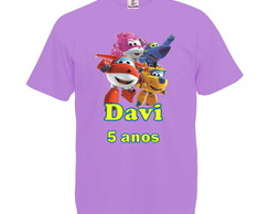 Camiseta Lilás Super Wings