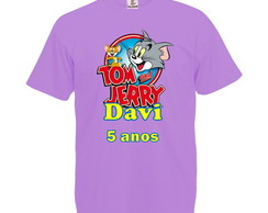 Camiseta Lilás Tom e Jerry