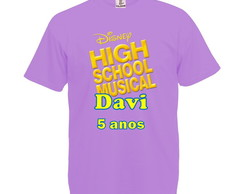Camiseta Lilás High School Musical