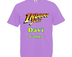 Camiseta Lilás Indiana Jones