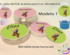 Kit Latinhas e Mini Tubetes -Goku