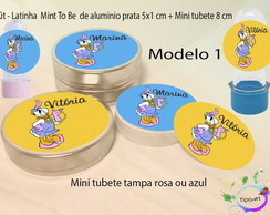 Kit Latinhas e Mini Tubetes -Margarida