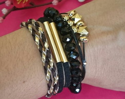 Mix de pulseiras Black e brown