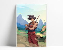 Placa decorativa Goku A4-P9
