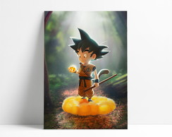 Placa decorativa Goku A4-P11
