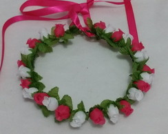 Tiara de Flores artificiais -Headband