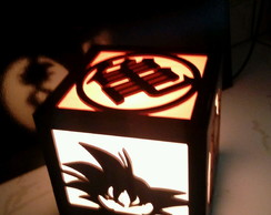 Luminaria Dragon Ball em Mdf