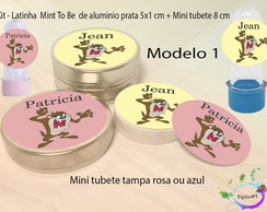 Kit Latinhas e Mini Tubetes -Taz Mania