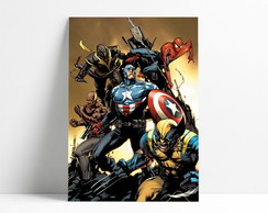 Placa decorativa Marvel Herois A4-P1162