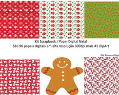 Kit Scrapbook /Papel Digital - NATAL
