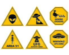 Placas Decorativas ET / UFO / OVNI