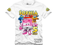 Camiseta Super Wings Personalizada
