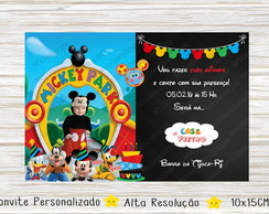 Convite Casa Do Mickey Digital