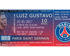 Convite Digital VIP - Paris Saint Germain - PSG