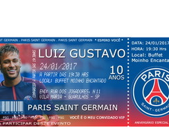 Convite Vip - Paris Saint Germain - PSG