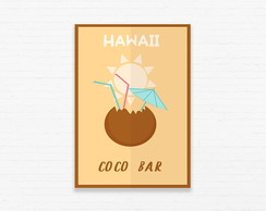Quadrinho 19x27 Hawaii Coco Bar