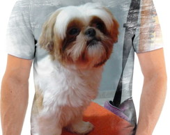 Camiseta Animal Cachorro Shih-tzu Fofo 3d Full HD 1