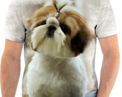 Camiseta Animal Cachorro Shih-tzu Fofo 3d Full HD 4