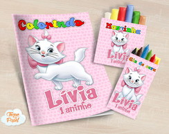 Kit colorir giz massinha gatinha marie
