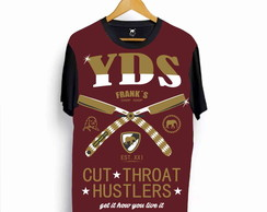 Camiseta Barber Shop Ydias Navalhas Bordo n20