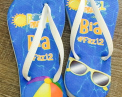 Chinelo personalizado pool party
